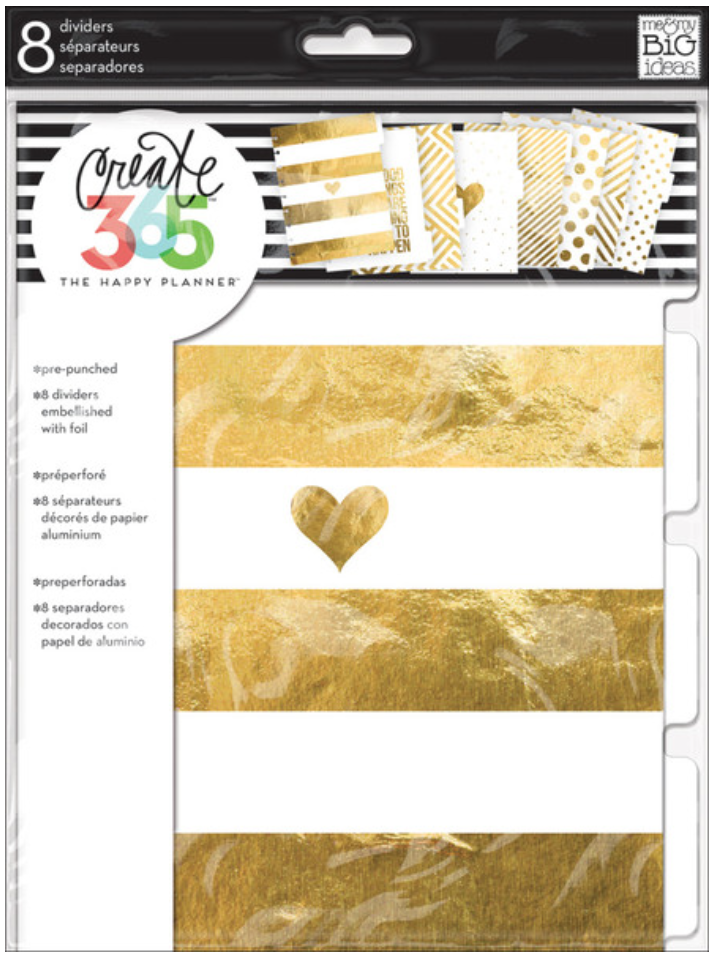 Gold Foil Dividers for Create 365™ The Happy Planner™ | me & my BIG ideas