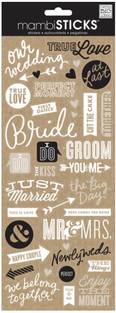 Doodle Words mambiSTICKS Wedding stickers   me & my BIG ideas