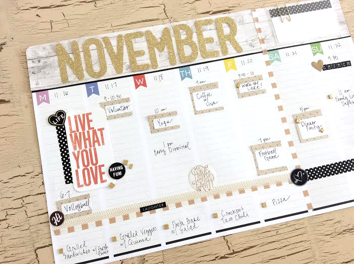 November Weekly Planner Pad by mambi Design Team member Jen Randall | me & my BIG ideas