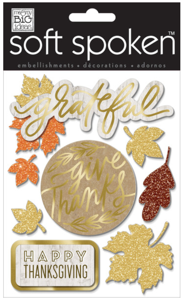 'Give Thanks' SOFT SPOKEN™ dimensional stickers | me & my BIG ideas