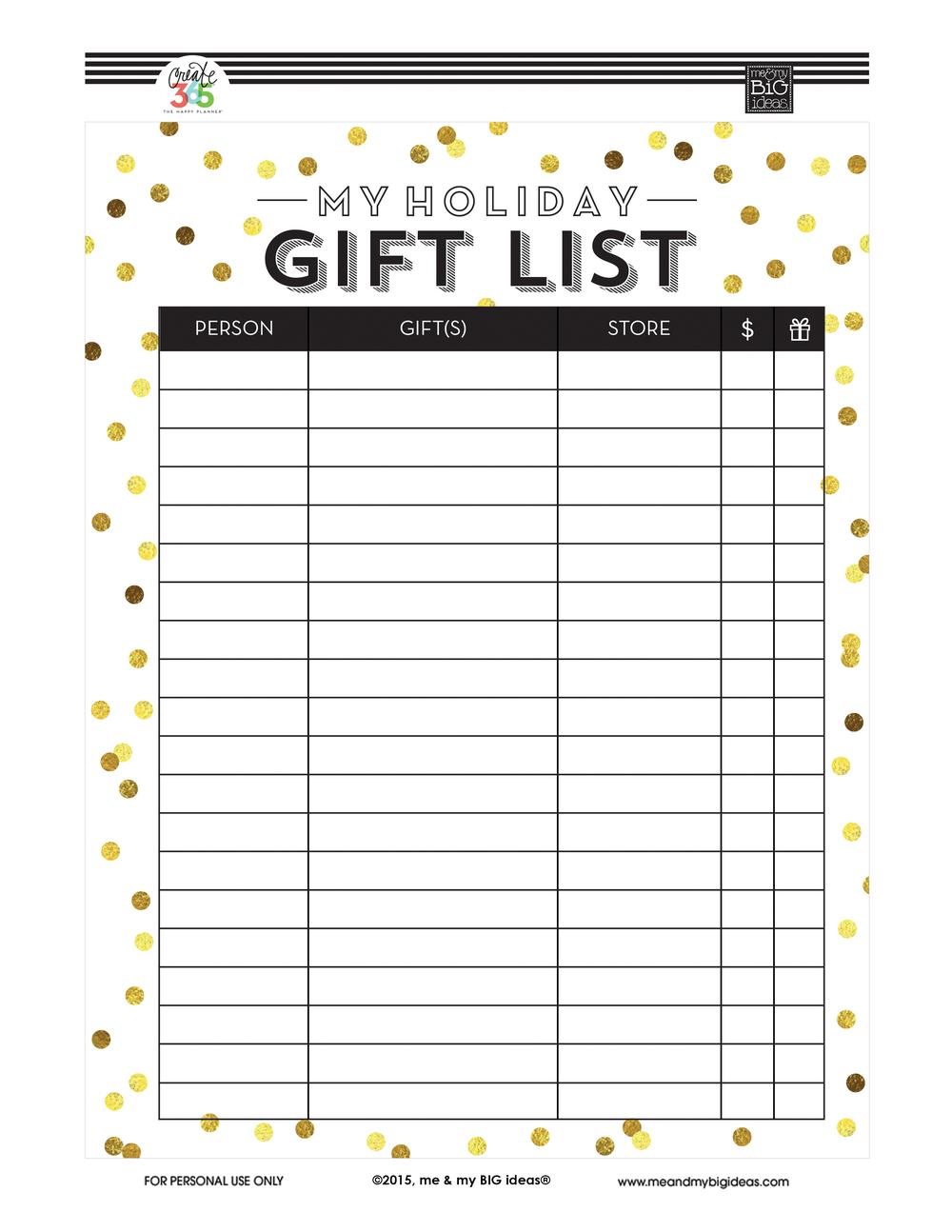 printable christmas list - Nuruf.comunicaasl.com