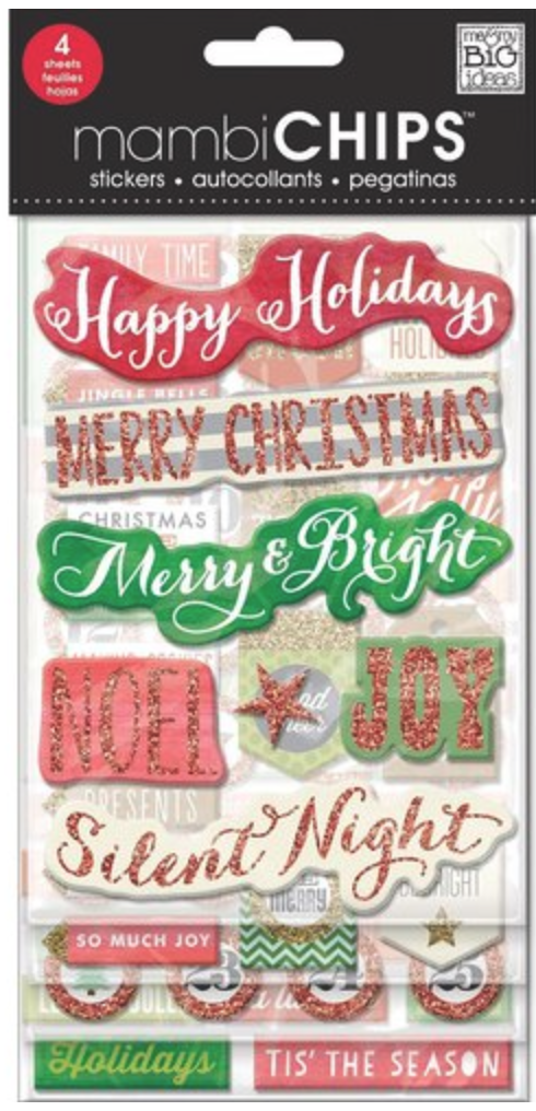 'Holiday Tags' mambiCHIPS chipboard stickers | me & my BIG ideas