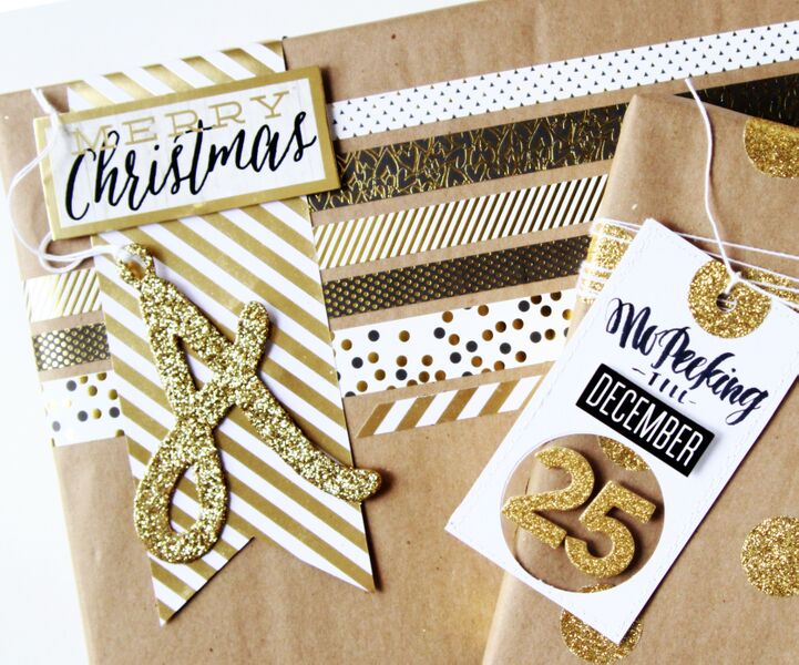 mambi wrap party featuring these DIY kraft-wrapped presents by mambi Deisgn Team member Janna Wilson | me & my BIG ideas