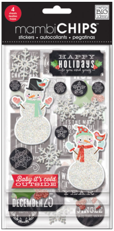'Baby It's Cold Outside' mambiCHIPS chipboard stickers | me & my BIG ideas