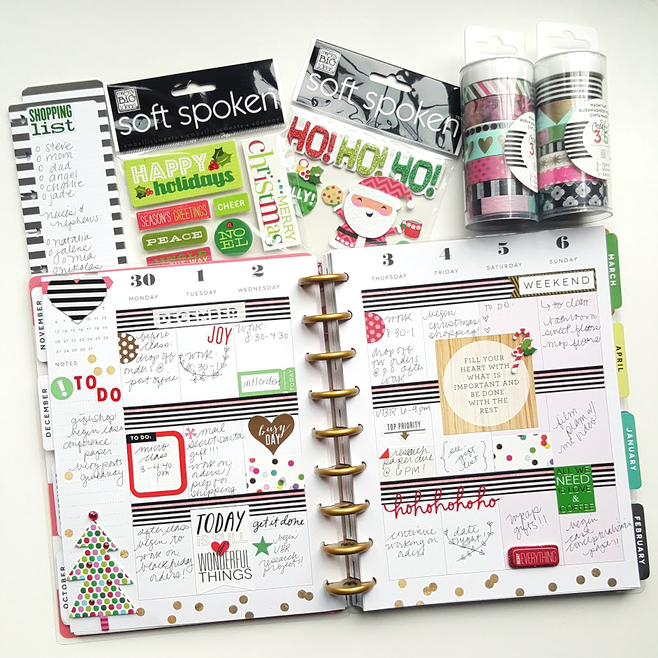 The happy planner the 1st week of december me my for Happy planner ideas