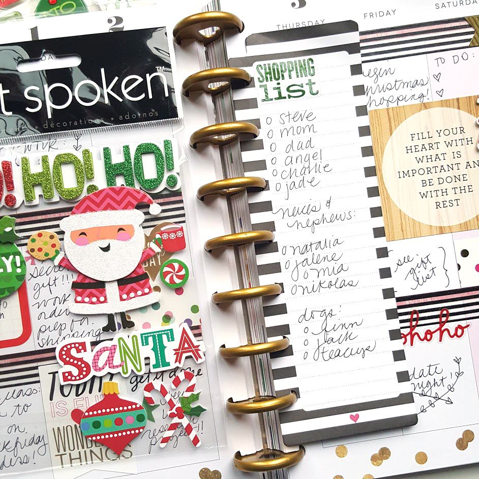 the first week of December in The Happy Planner™ of mambi Design Team member Kiara Vega | me & my BIG ideas