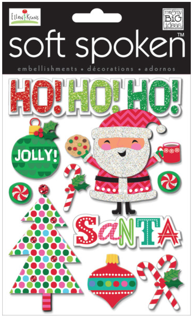 'Jolly Santa' SOFT SPOKEN™ dimensinoal sticker pack | me & my BIG ideas