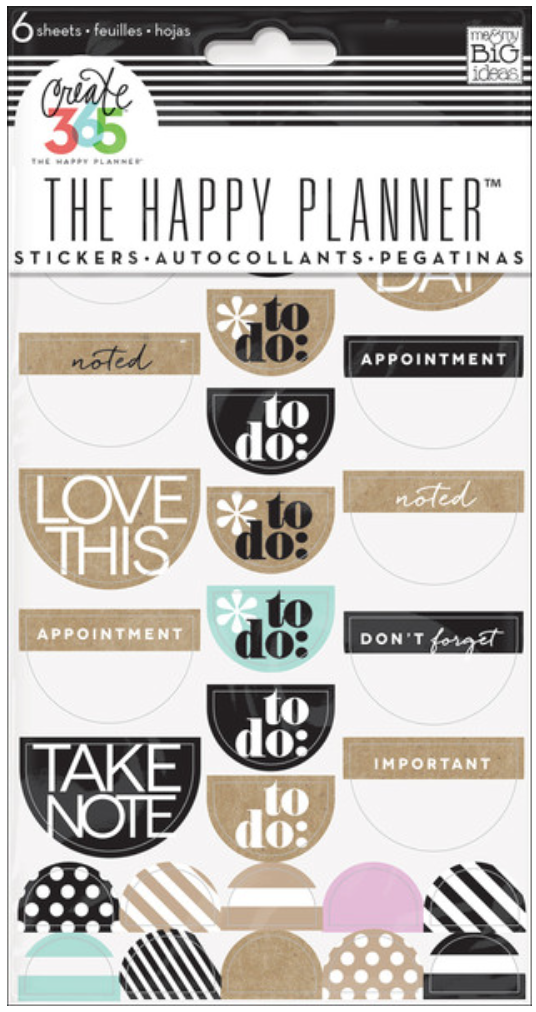 Neutral 'To Do' stickers for The Happy Planner™ | me & my BIG ideas