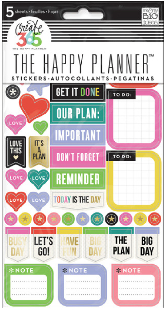 'Everyday Reminders' stickers for The Happy Planner™ | me & my BIG ideas
