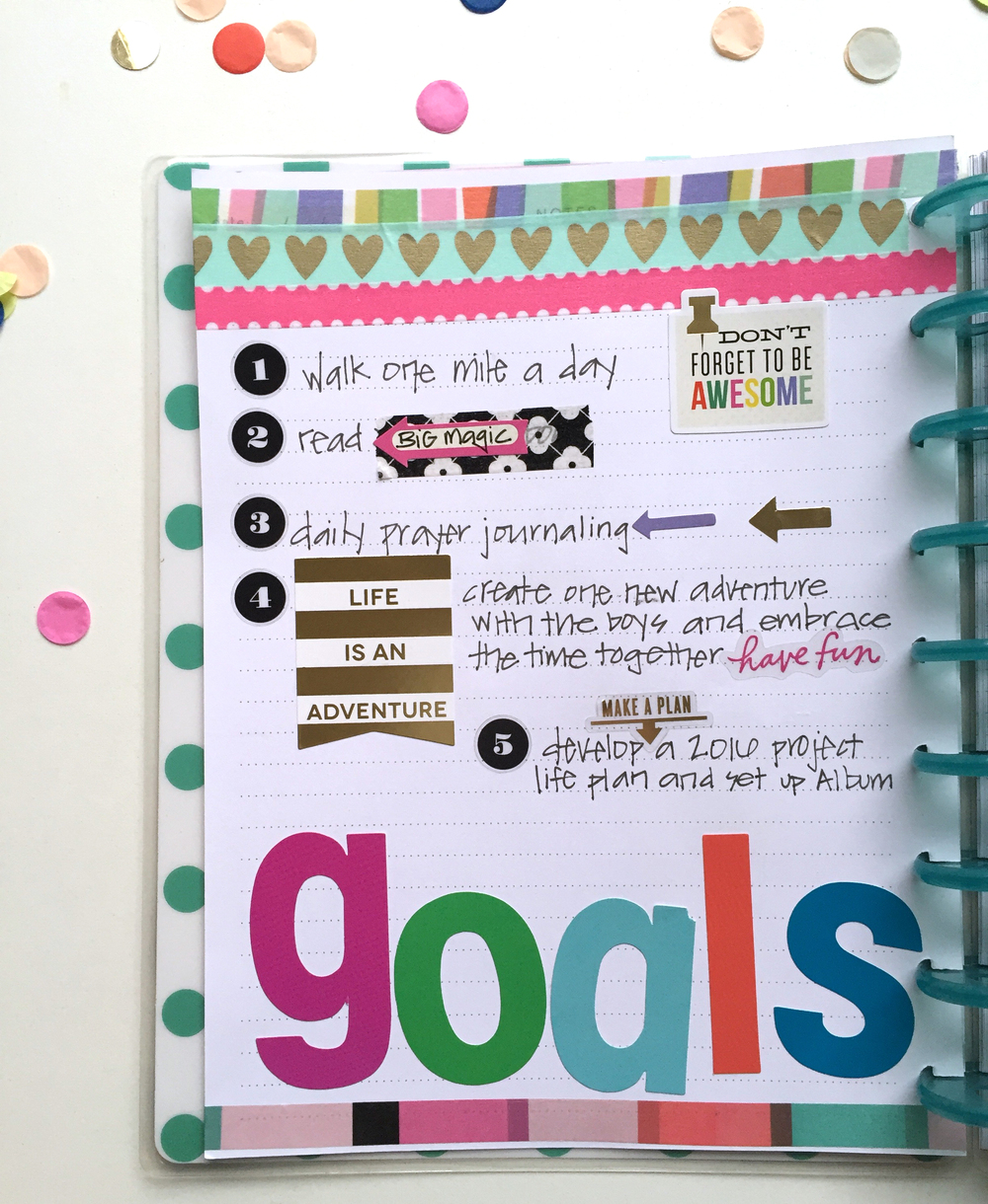 2016 goals & January setup in The Happy Planner™ of mambi Design Team member Casie Gutierrez | me & my BIG ideas