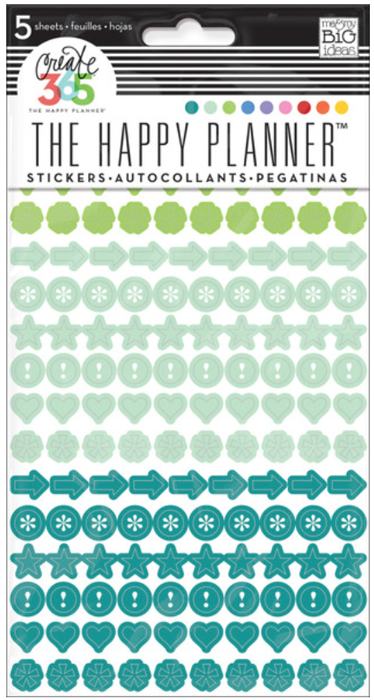 'Colorful Dots' icon stickers for The Happy Planner™ | me & my BIG ideas