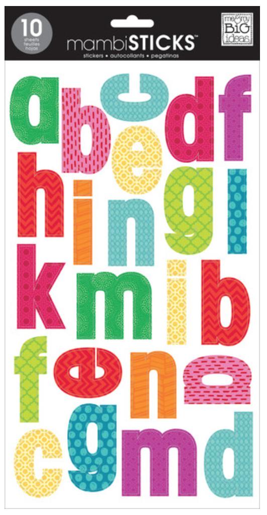 Bright Mini Prints mambiSTICKS alphabet stickers | me & my BIG ideas