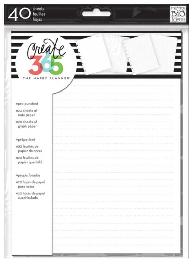 Notes & Graph Paper Extension Pack for The Happy Planner™ | me & my BIG ideas
