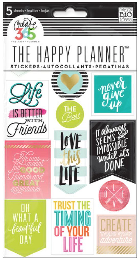 'Life Quotes' sticker value pack for The Happy Planner™ | me & my BIG ideas