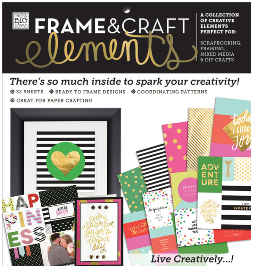 'Big City Brights' Frame & Craft Elements 12x12 paper pad | me & my BIG ideas