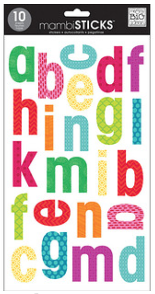 Large Lower Case mambiSTICKS alphabet stickers | me & my BIG ideas