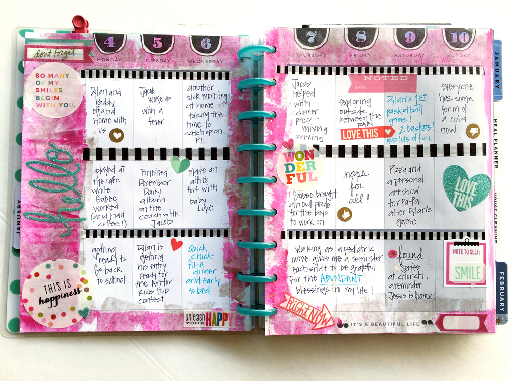 painty January week in The Happy Planner™ of mmbi Deign Team member Casie Gutierrez | me & my BIG ideas