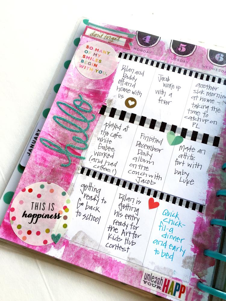 painty January week in The Happy Planner™ of mmbi Deign Team member Casie Gutierrez | me & my BIG ideas