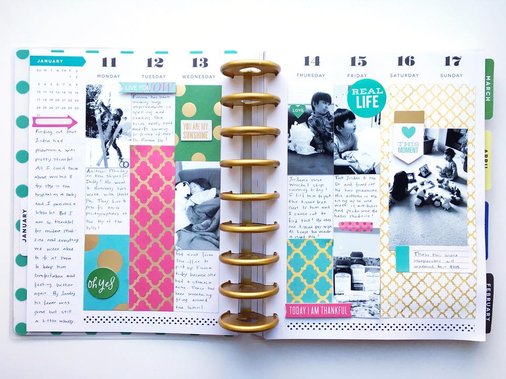 The happy planner january last week me my big ideas for Me my big ideas planner