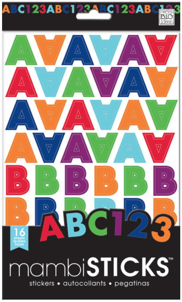 Uppercase Jewel Tones mambiSTICKS alphabet & numbers stickers | me & my BIG ideas