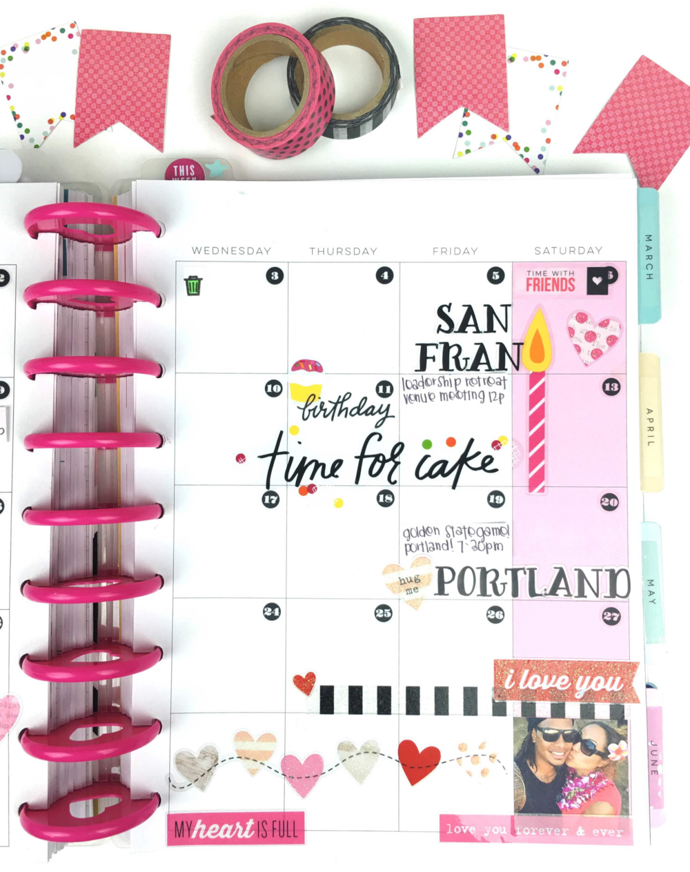 February monthyl layout & Vlaentine's week setup in The happy Planner™ of mambi Design Team member Chantal Williams | me & my BIG ideas