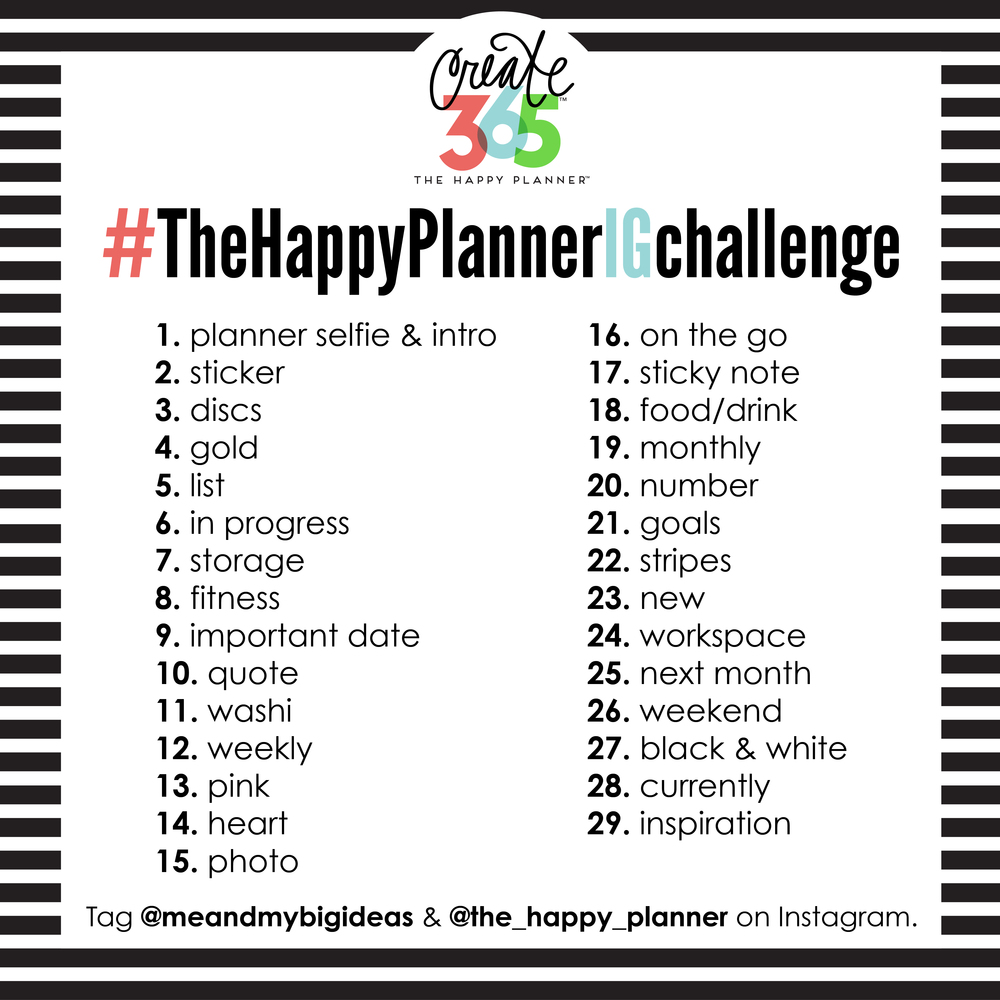 #TheHappyPlannerIGchallenge graphic for February 2016 | me & my BIG ideas