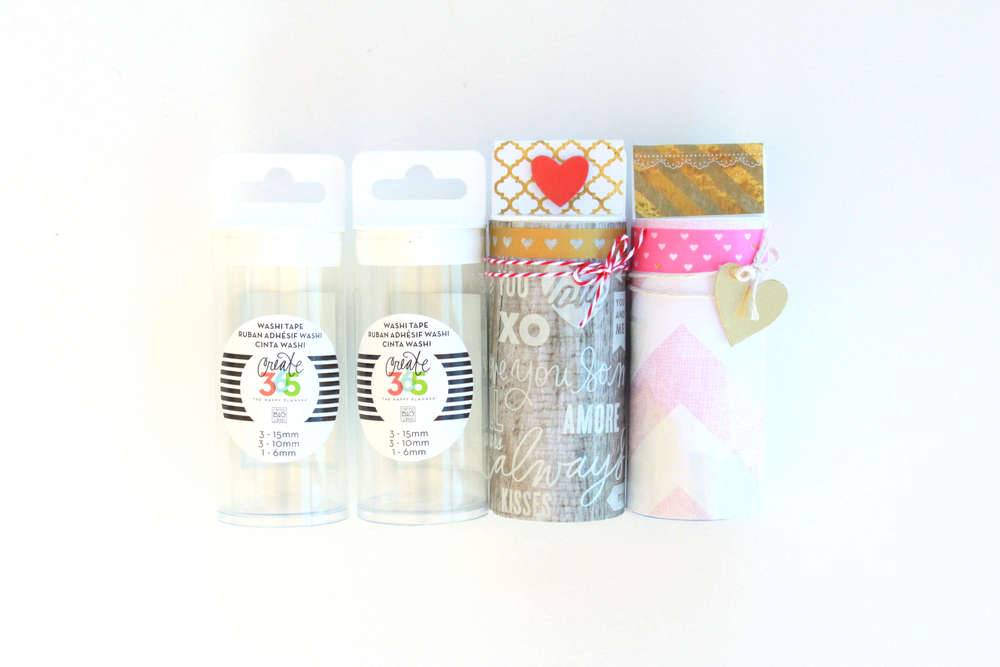 turning The Happy Planner™ washi tape tubes into Valentines (!!!) by mambi Design Team member Heather Adams | me & my BIG ideas