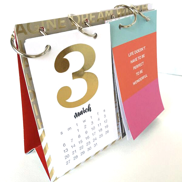 Handmade Calendar Design : Craft diy desk calendar — me my big ideas