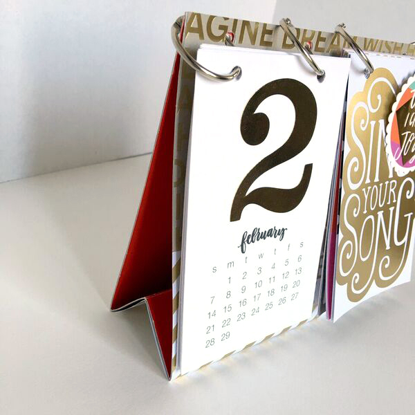 Calendar Binding Ideas : Craft diy desk calendar — me my big ideas