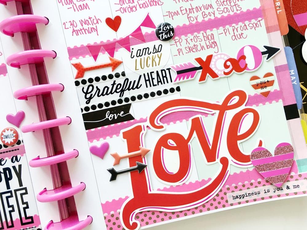 red & pink Valentine's Week in The Happy Planner™ of mambi Design Team member Mary-Ann Maldonado   me & my BIG ideas