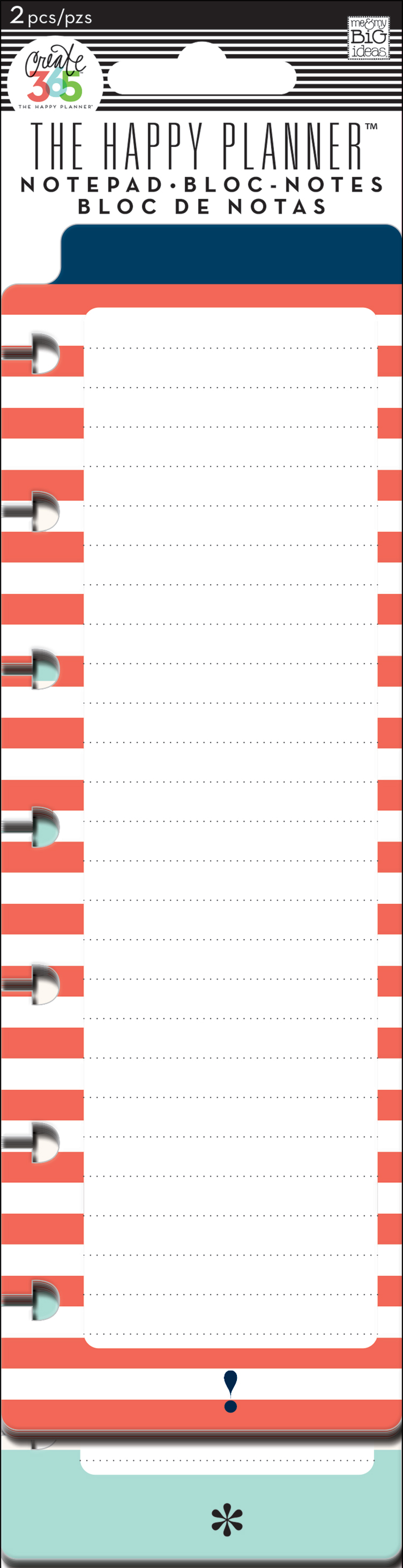 'Red & Teal' notepads for The Happy Planner™ | me & my BIG ideas.jpg