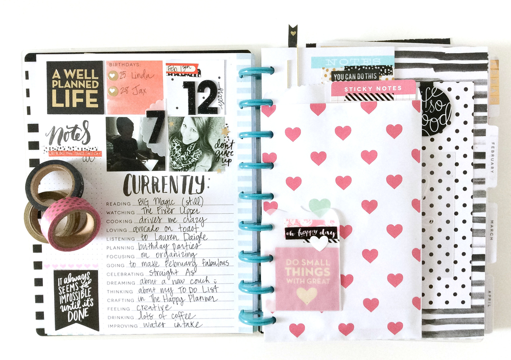 getting PUNCH happy (!!!) in The Happy Planner™ of mambi Design Team member Jen Randall   me & my BIG ideas