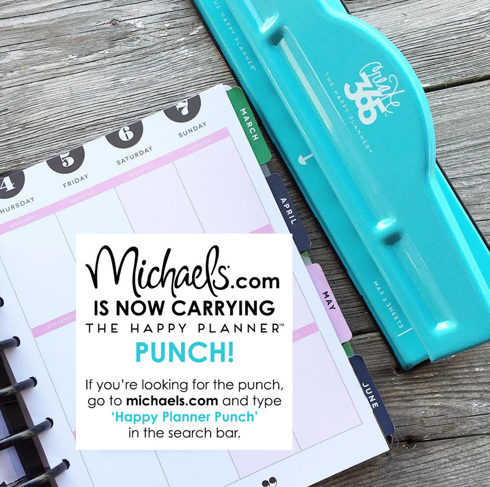 The Happy Planner™ Punch now on michaels.com online!   me & my BIG ideas