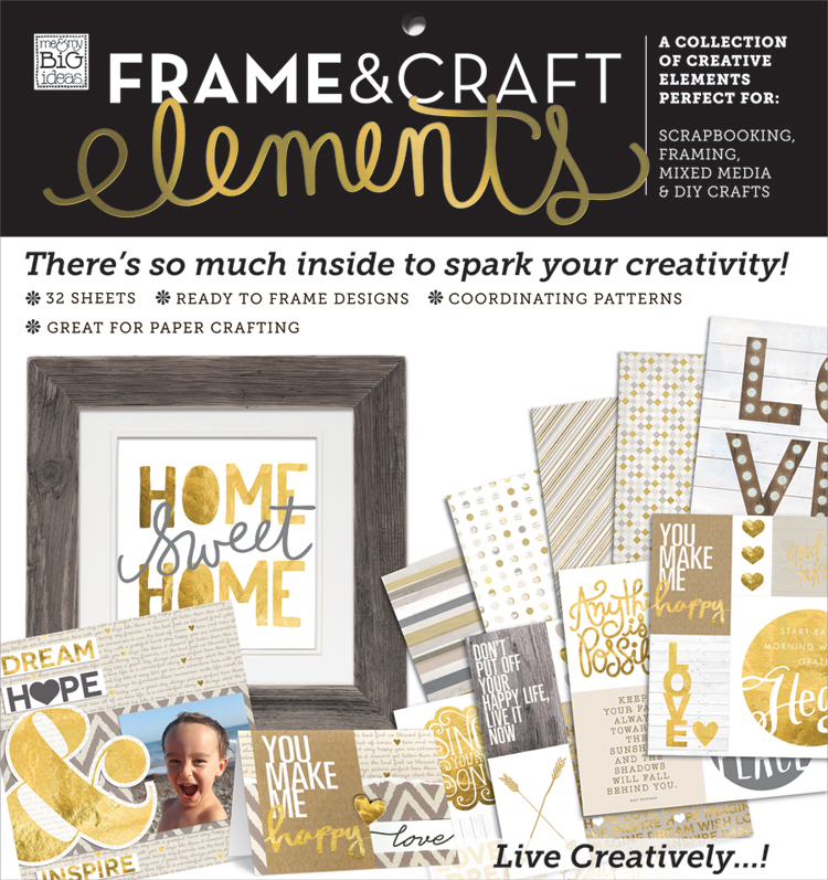 'Home Sweet Home' 12x12 Frame & Craft Elements paper pad | me & my BIG ideas.jpg.jpg