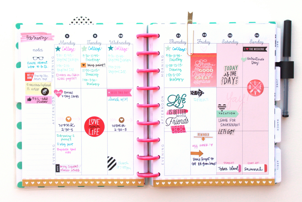 the power of sticky notes in The Happy Planner™ of mambi Design Team member Heather Adams | me & my BIG ideas
