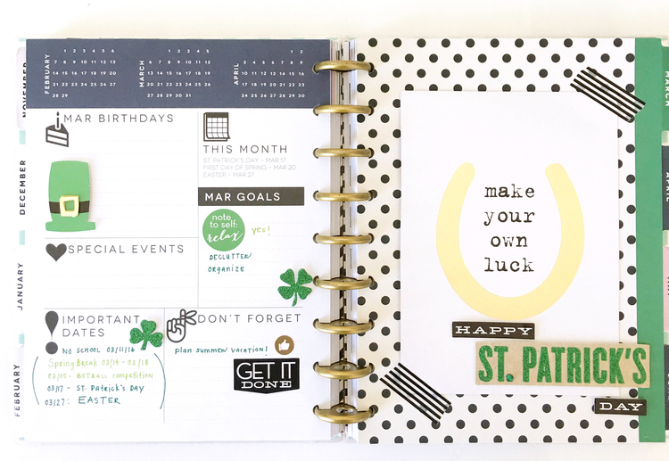 March dashboard setup in The Happy Planner? of mambi Design Team member Thuy Bui | me & my BIG ideas