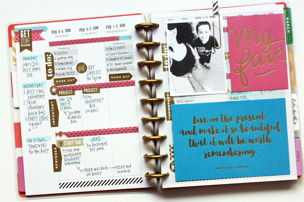 a full February weekly layout in The Happy Planner? of mambi Design Team member April Orr | me & my BIG ideas