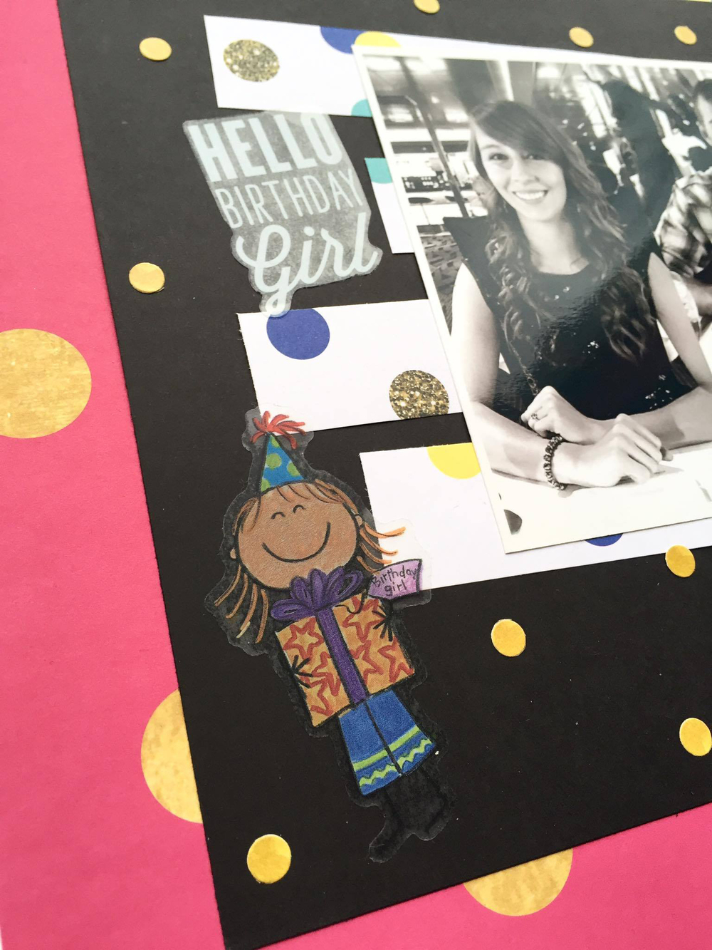 birthday month scrapbook page & a throwback by mambi Design Team member Megan McKenna | me & my BIG ideas