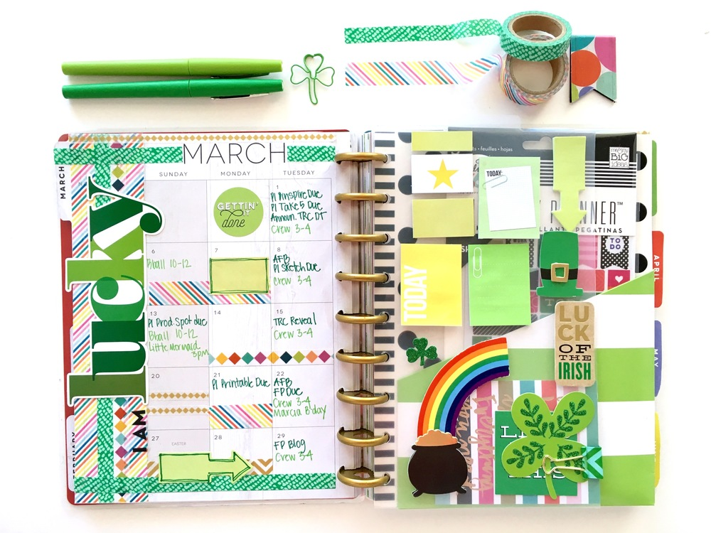 the happy planner lucky march monthly me my big ideas