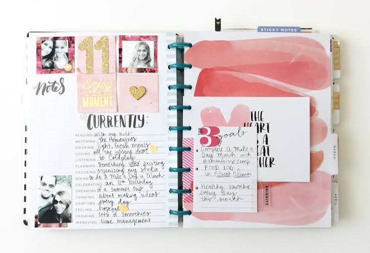 prepping March with the peony washi tape in The Happy Planner? of mambi Design Team member Jen Randall | me & my BIG ideas