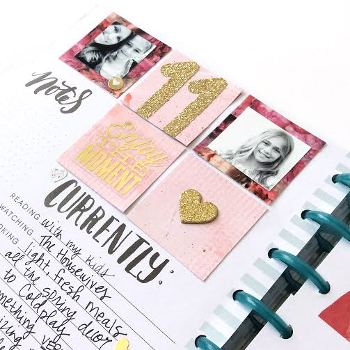 prepping March with the peony washi tape in The Happy Planner™ of mambi Design Team member Jen Randall | me & my BIG ideas
