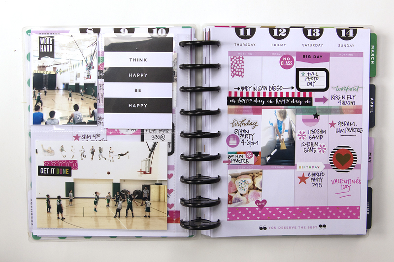 a memory planning February week in The Happy Planner™ of mambi Design Team member Jennie McGarvey | me & my BIG ideas