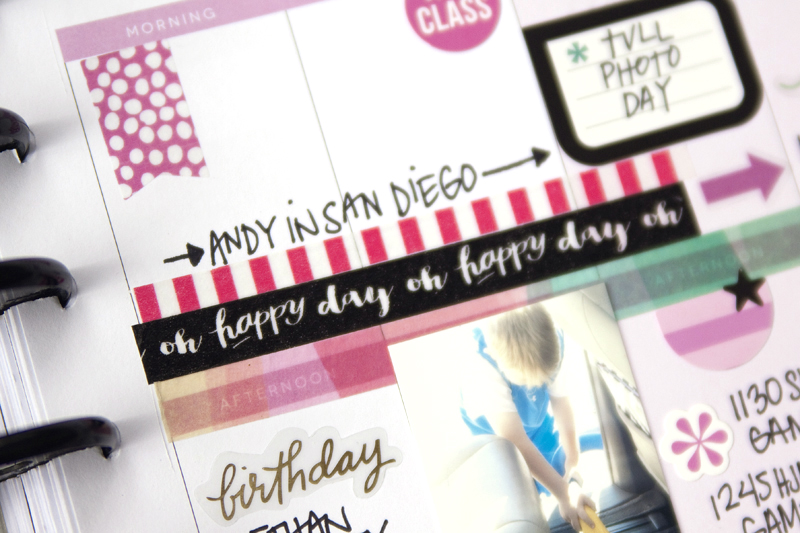 a memory planning February week in The Happy Planner? of mambi Design Team member Jennie McGarvey | me & my BIG ideas