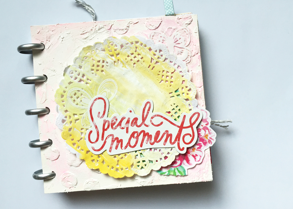 a mini disc mini album by mambi Design Team member Jen Randall for The Happy Planner? PUNCH-A-PALOOZA | me & my BIG ideas