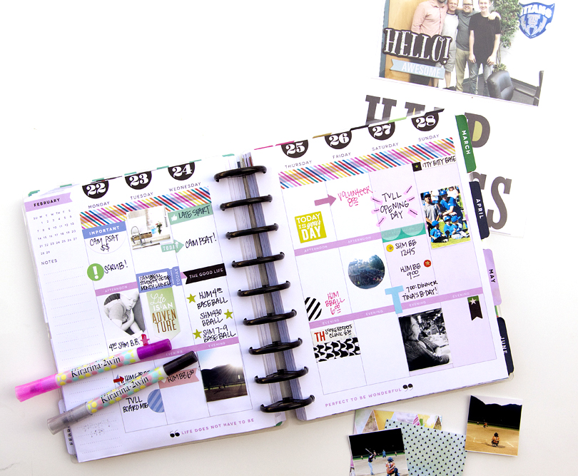 memory plan with mambi Design Team member Jennie McGarvey in her Happy Planner? | me & my BIG ideas