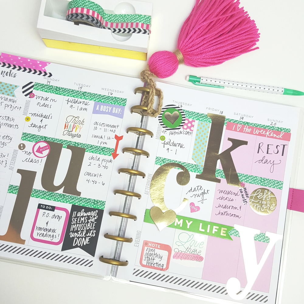 'lucky' St. Patrick's Day week in The Happy Planner? of mambi Design Team member Kiara Vega | me & my BIG ideas
