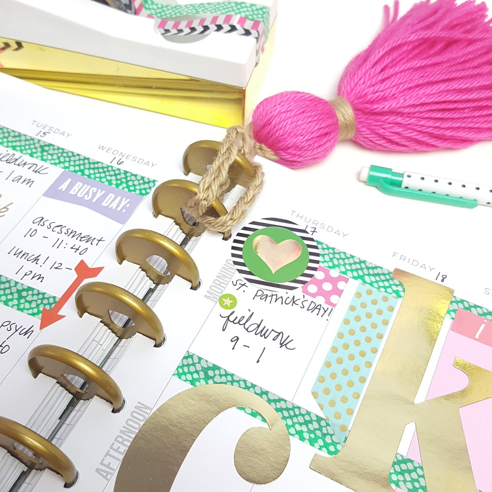 'lucky' St. Patrick's Day week in The Happy Planner™ of mambi Design Team member Kiara Vega | me & my BIG ideas