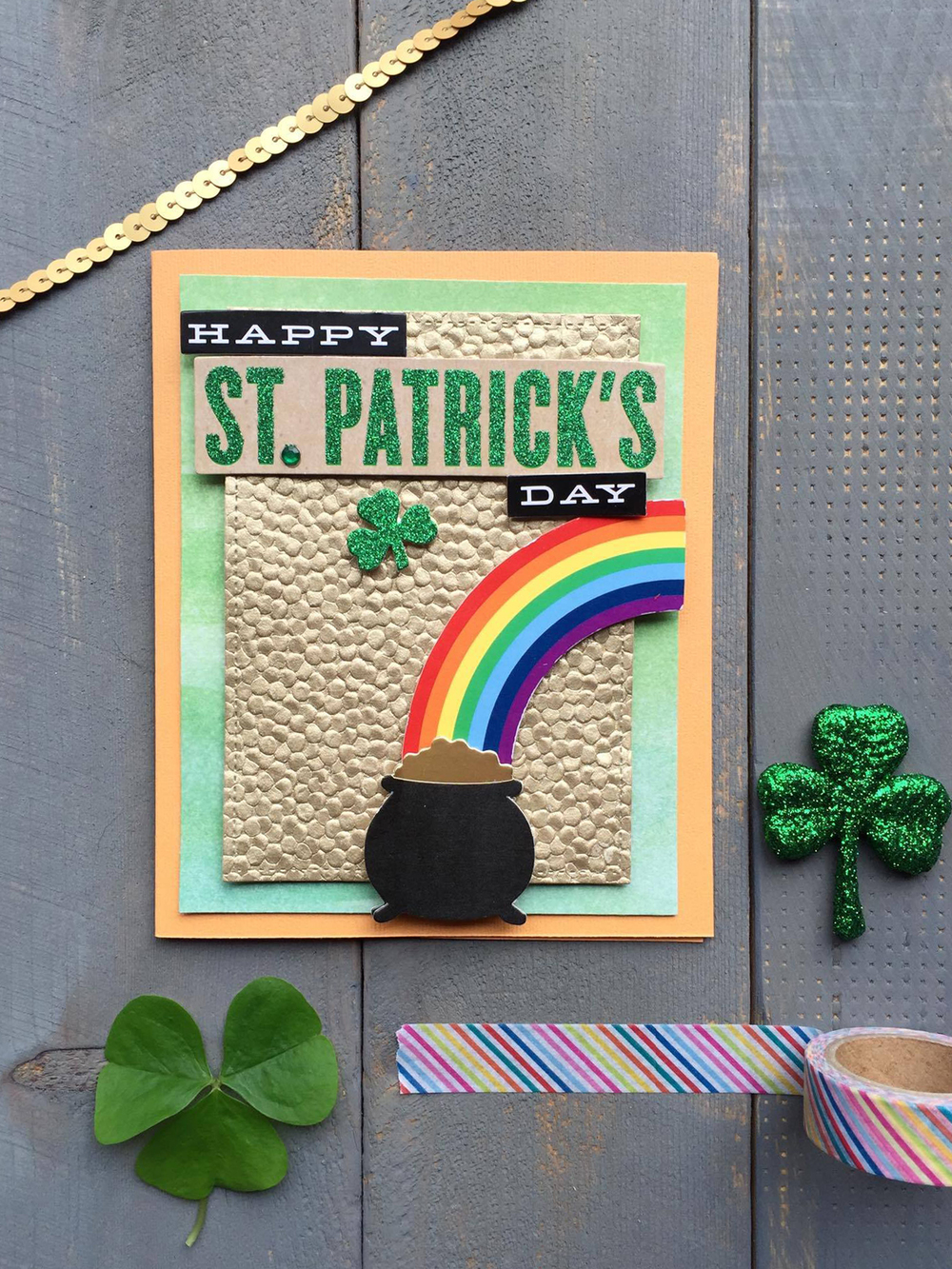 Happy St. Patrick's Day card by mambi Design Team member Megan McKenna | me & my BIG ideas