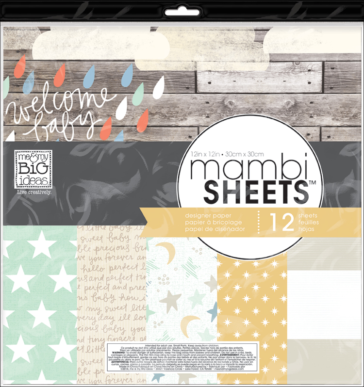 'Welcome Baby' 12x12 mambiSHEETS designer paper | me & my BIG ideas.jpg