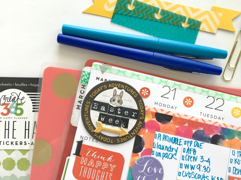 Easter week in The Happy Planner™ of mambi Design Team member Mary-Ann Maldonado | me & my BIG ideas
